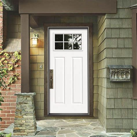jeld wen 31 438 in x 81 75 in 6 lite craftsman primed