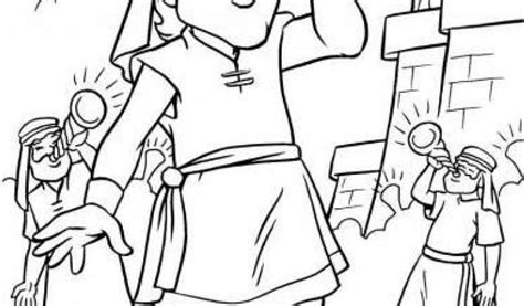 Joshua Fought The Battle Of Jericho Coloring Pagekids Joshua Jericho Coloring Page