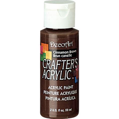 cinnamon brown decoart 174 crafter s acrylic paint basic cinnamon brown craft paint