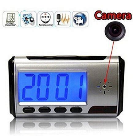 ztcolife ortable alarm clock spy camera dvr with motion