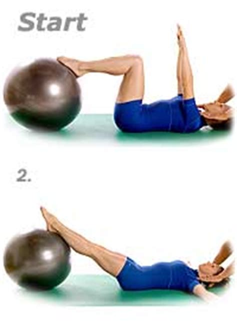 double leg stretch  swiss exercise ball