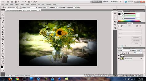 photoshop cs3 vignette tutorial photoshop tutorial how to make a vignette effect youtube