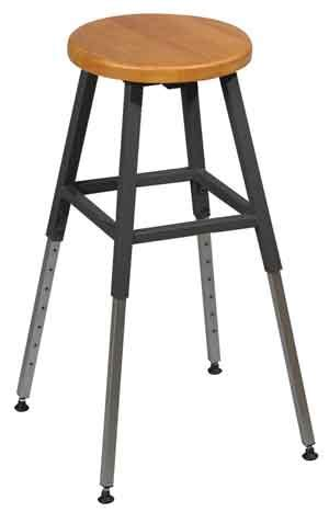 Science Tables And Stools by Balt Adjustable Height Lab Stool Black Frame 34441r