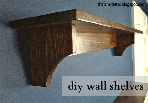 that s my letter diy wall shelves