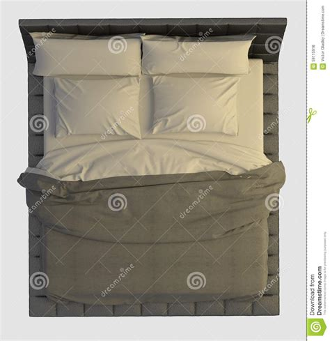 bed top view bed top view on white stock illustration image of nobody