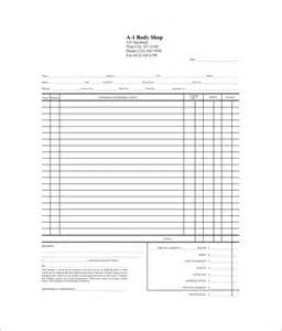 Printable Auto Body Repair Estimate Forms Hardhost Info Auto Repair Template