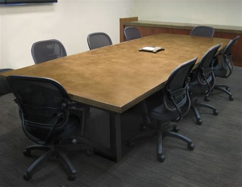 contemporary concrete conference table contemporary