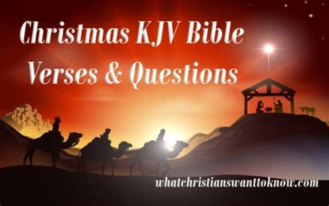 christmas kjv bible verses  discussion questions