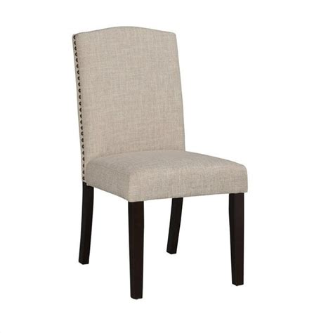 Upholstered Parson Dining Chairs Boraam Chagne Parson Upholstery Dining Chairs Set Of 2 In White Sand 83718