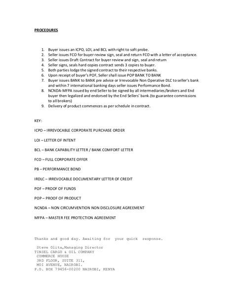 Sle Letter Of Intent To Buy Diesel letter of intent to buy diesel 28 images board