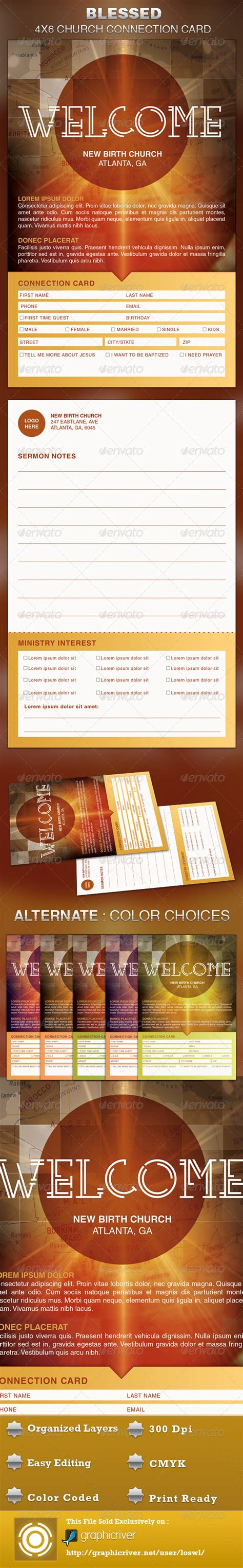 youth connection card template blessed church connection card template graphicriver