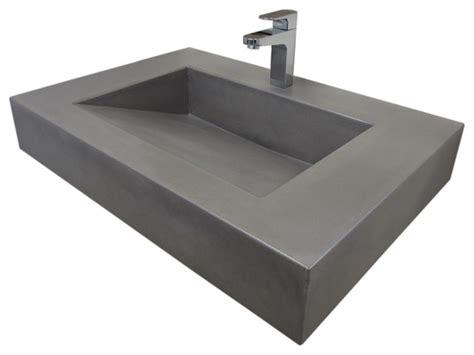 modern bathroom sinks 30 quot ada floating concrete sink graphite modern bathroom sinks