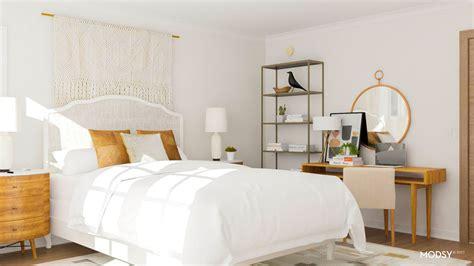 smart layout ideas  maximize  boxy bedroom