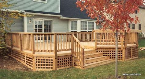 mitercraft construction gallery deck designs backyard