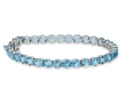 swiss blue topaz bracelet in sterling silver 5mm blue nile