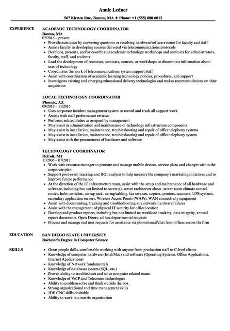 technology coordinator resume resume ideas
