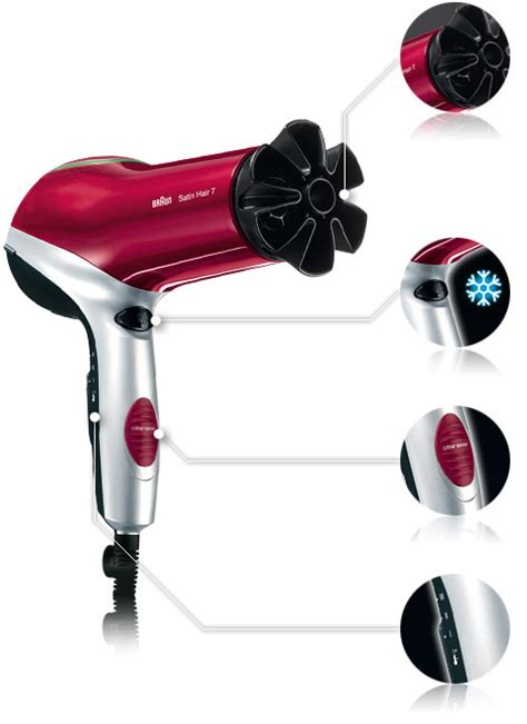 Braun Hair Dryer Canada braun satin hair 7 color dryer hd 770 professional hairdryer genuine new ebay