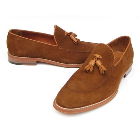 loafer ayakkabi paul parkman suede tassel loafers tobacco