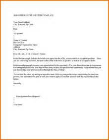 Refusing Offer Letter Decline Offer Letter General Resumes