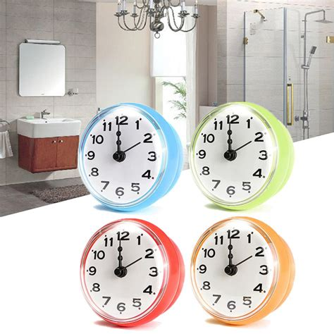 waterproof clocks for bathroom 4 color bathroom shower waterproof wall clock large sucker without battery home decor
