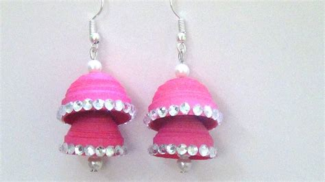 How To Make Paper Earrings Jhumkas - how to make paper earrings jhumkas www pixshark
