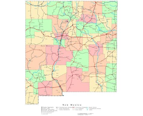 new hshire on the map of usa maps of new mexico state collection of detailed maps of