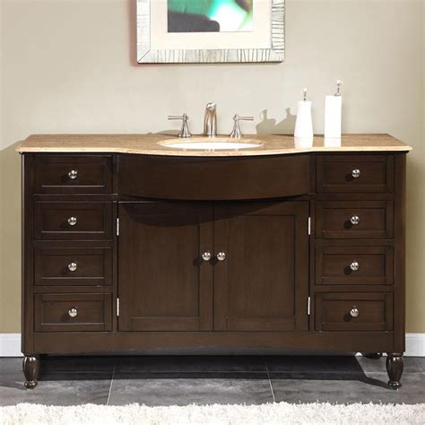 Modern Single Bathroom Vanity 58 Quot Modern Single Bathroom Vanity Espresso