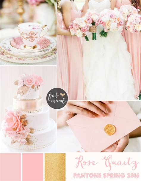 Pantone Colour Of The Year 2017 by Rose Quartz Wedding Theme Pantone Spring 2016
