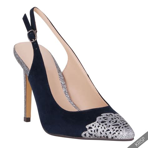 Formal High Heels 2 womens formal glitter pointed slingback high heels court