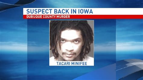 murder and in county iowa murder books murder suspect arrives in dubuque co kgan