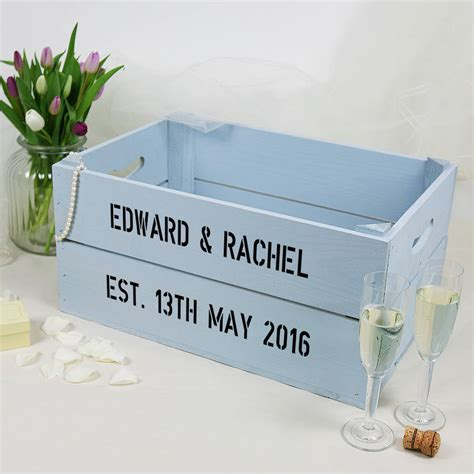 Wedding Card Crate by Personalised Wedding Crate By Plantabox