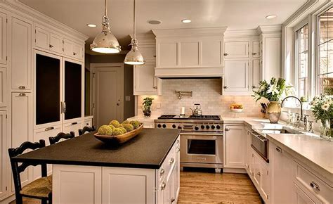Black Granite Kitchen Island by Honed Marble Countertops Transitional Kitchen