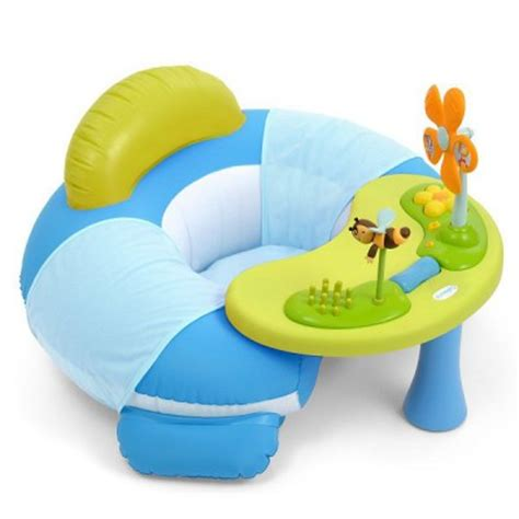 siege gonflable cotoons si 232 ge gonflable cosy seat cotoons bleu smoby magasin