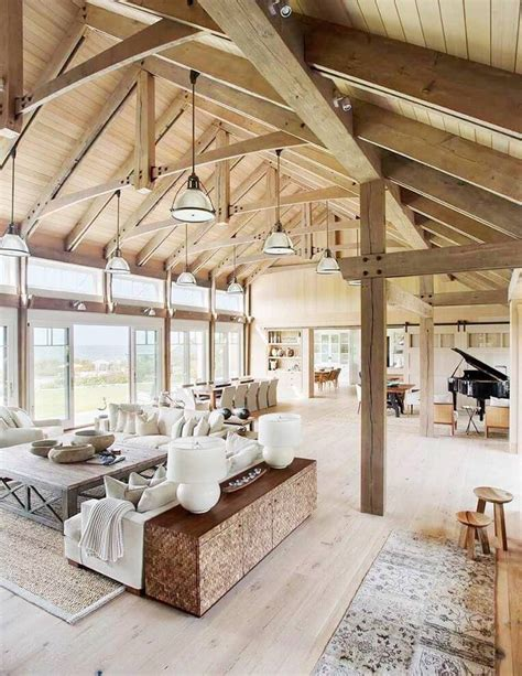 vaulted ceiling house plans barn house vaulted ceilings living room a barn house on martha s vineyard by hutker