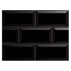 Interior Samples Nori Ceramic Collection Subway Tile Black Gloss 3 Quot X 6