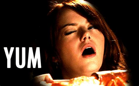 emma stone eating ice cream snl tasty gifs find share on giphy