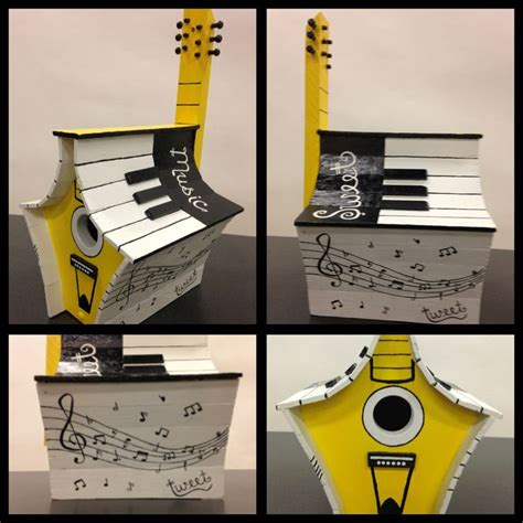 house music themes painted bird house with music theme music birds
