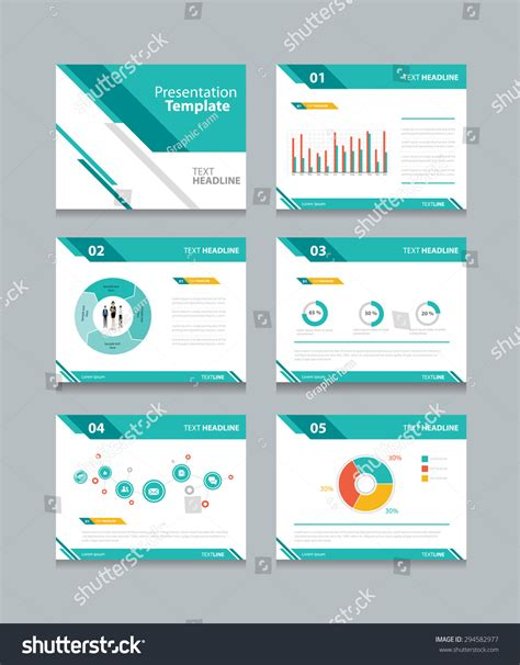 Business Presentation Template Set Powerpoint Template Design Backgrounds 스톡 벡터 294582977 Set Up Powerpoint Template