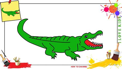 How To Draw A Crocodile Step By Step For Beginners
