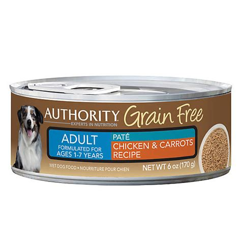 authority grain free puppy food authority 174 grain free food chicken carrots canned food petsmart