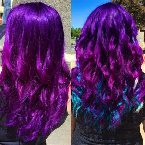 bright color ombre hairstyles ombre hair bright blue 25 best bright hair ideas on