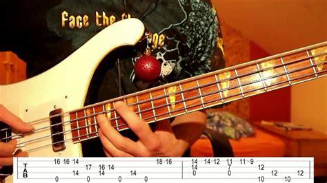 snow bass guitar  tabs christmas edition youtube