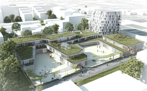 college architecture design gallery of school and student residence chartier dalix