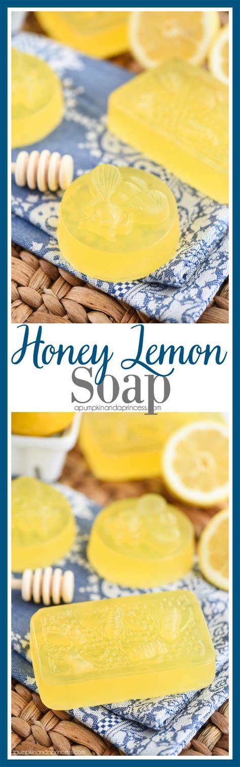 Handmade Lemon Soap - honey lemon soap a pumpkin and a princess