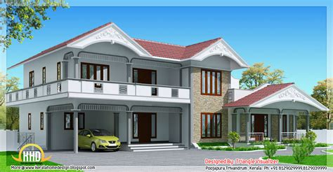 1900 sq feet kerala model sloping roof house house 2990 sq feet sloped roof house in kerala style home
