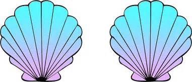 quot mermaid shells blue pink ombre quot stickers by amzyydoodles