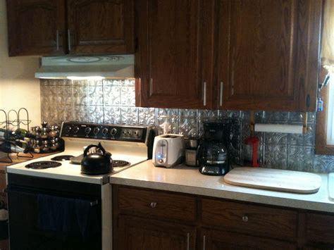 faux tin kitchen backsplash why i ve been noticeably absent and my cute house classy