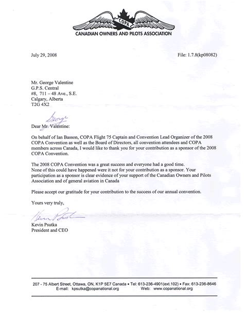 College Sponsor Letter Sle appreciation letter sponsorship sle 28 images