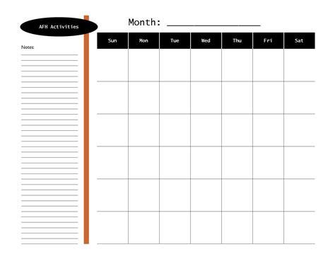calendar of activities template calendar template log calendar template 2016