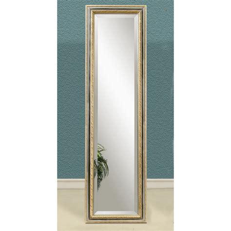 silver gold full length cheval floor mirror
